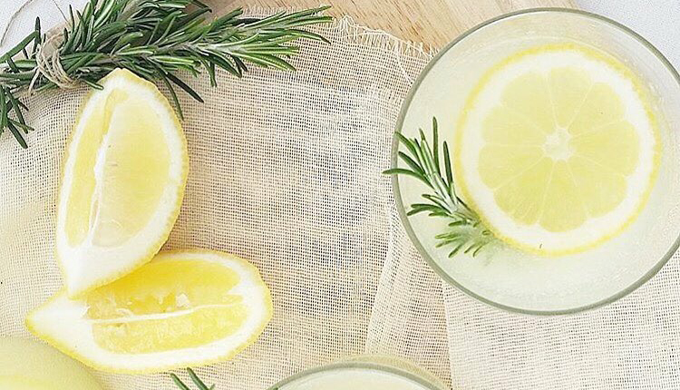 lemon and rosemary lemonade
