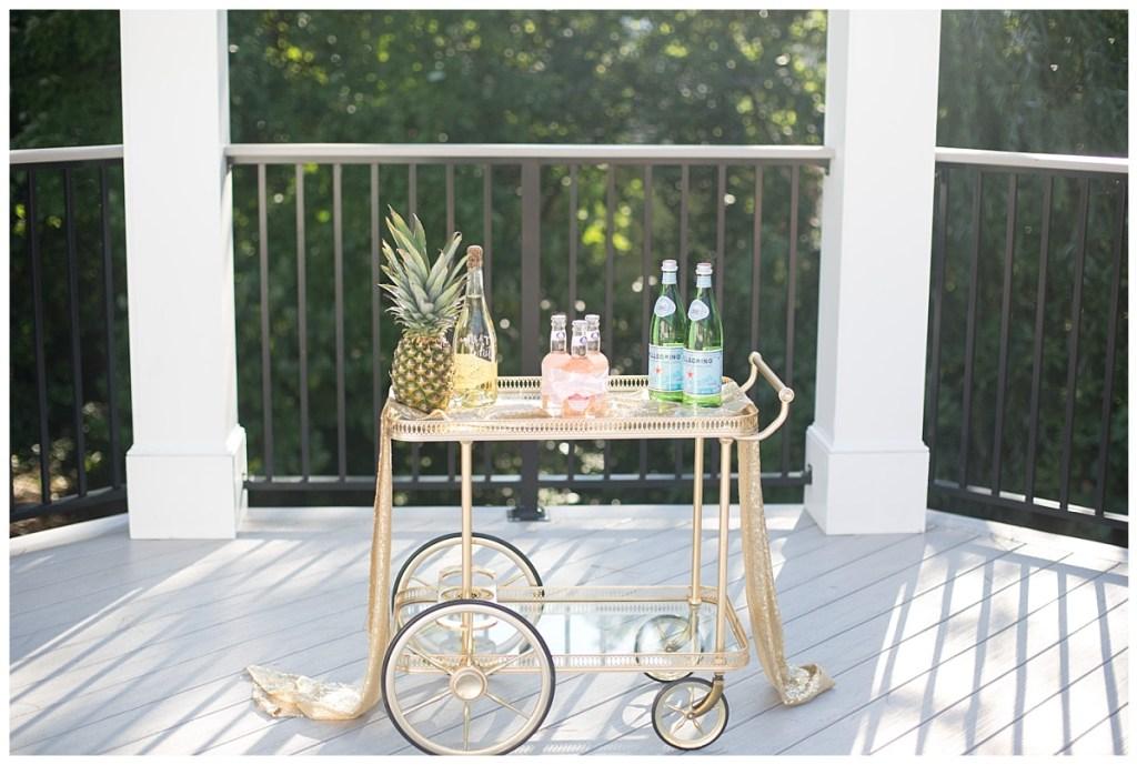 pineapple bar cart