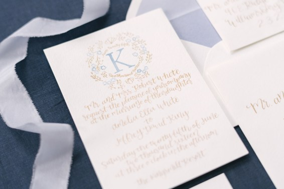 french-blue-gold-watercolor-monogram-calligraphy-invitation-suite-silk-ribbon-1