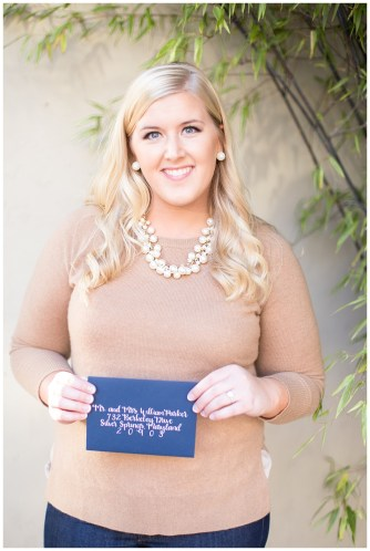 blonde-headshot-tan-cashmere-sweater-calligraphy-navy-envelope