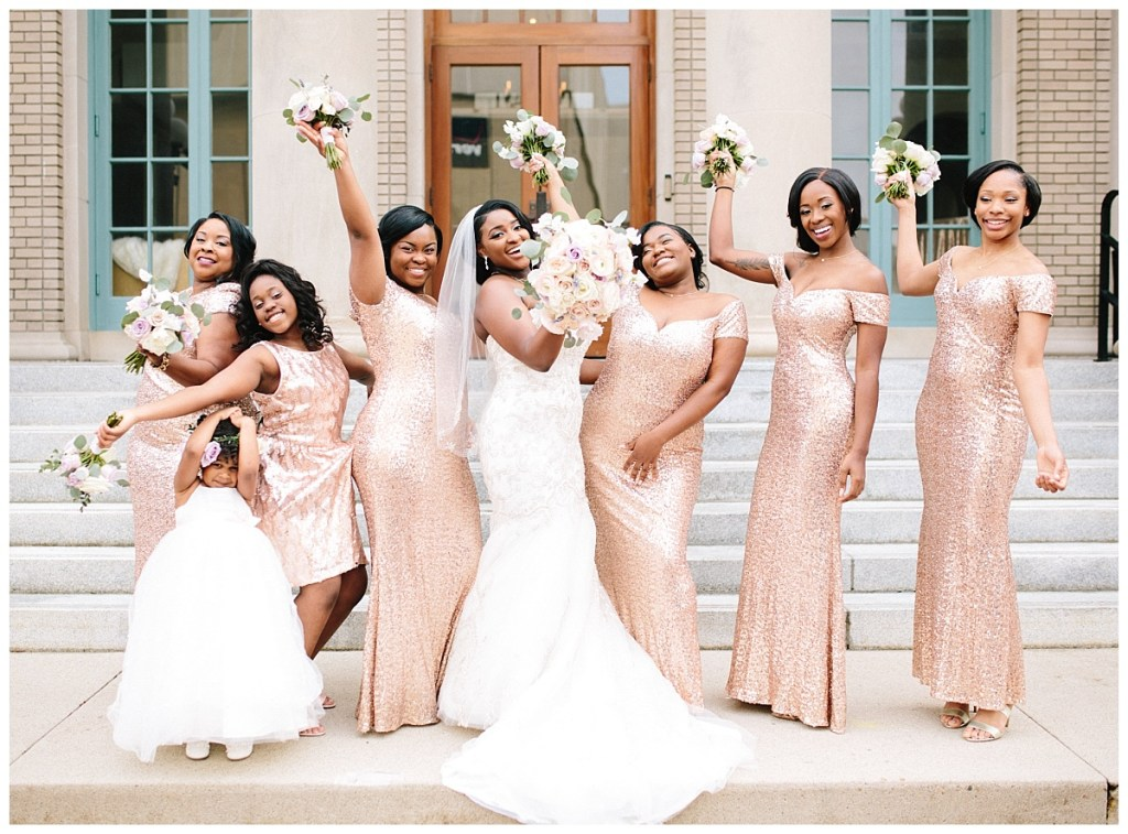 gold-sequined-bridesmaid-dresses