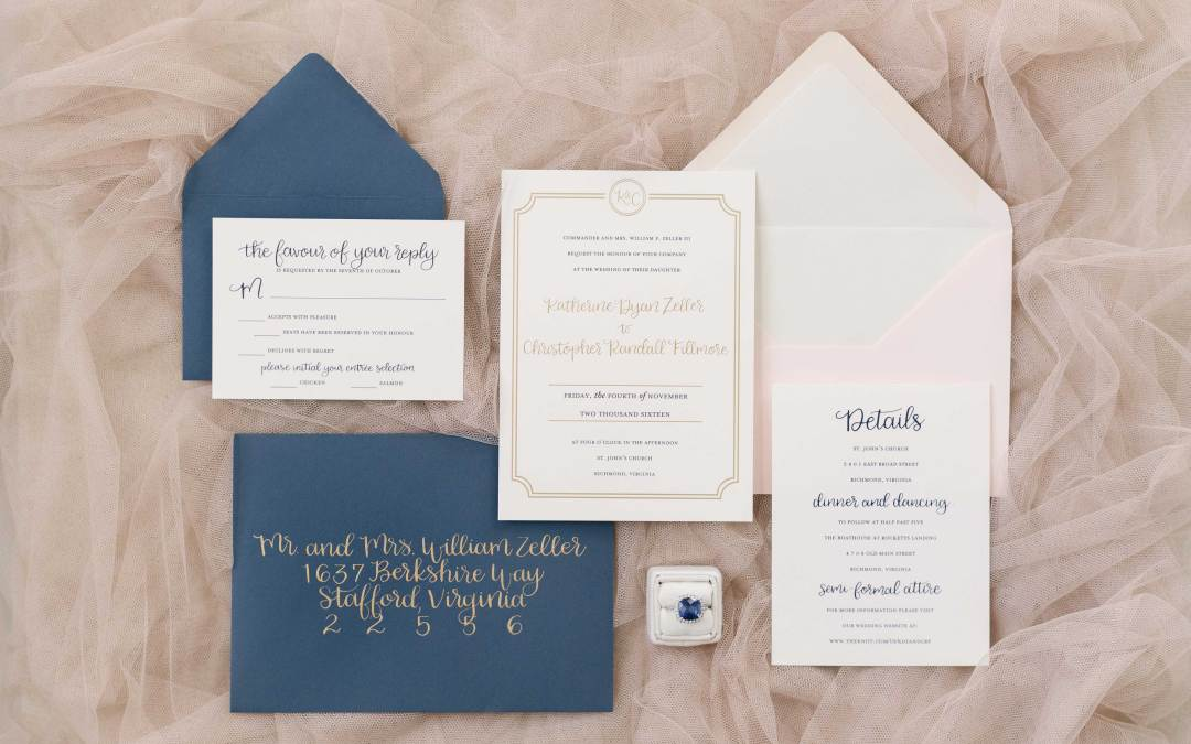 Modern, Southern Wedding Invitations And Calligraphy