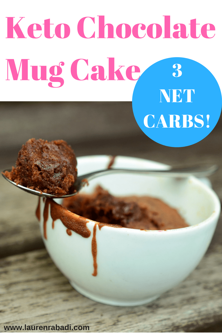 Keto Chocolate Mug Cake + Calorie Breakdown #lowcarb #keto