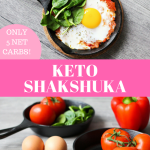 Keto Shakshuka – Sausage. Peppers. Eggs. Cheese.