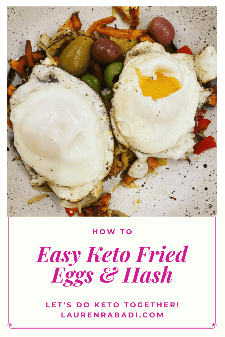 Easy Keto Fried Eggs & Hash #keto #ketolunch #ketobreakfast #ketodinner #easyketo