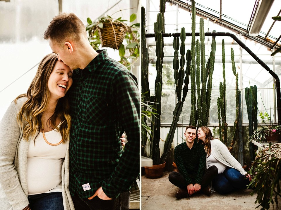 Anchorage Maternity Session at Mann Leiser Memorial Greenhouse