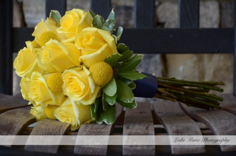yellow roses and craspidia