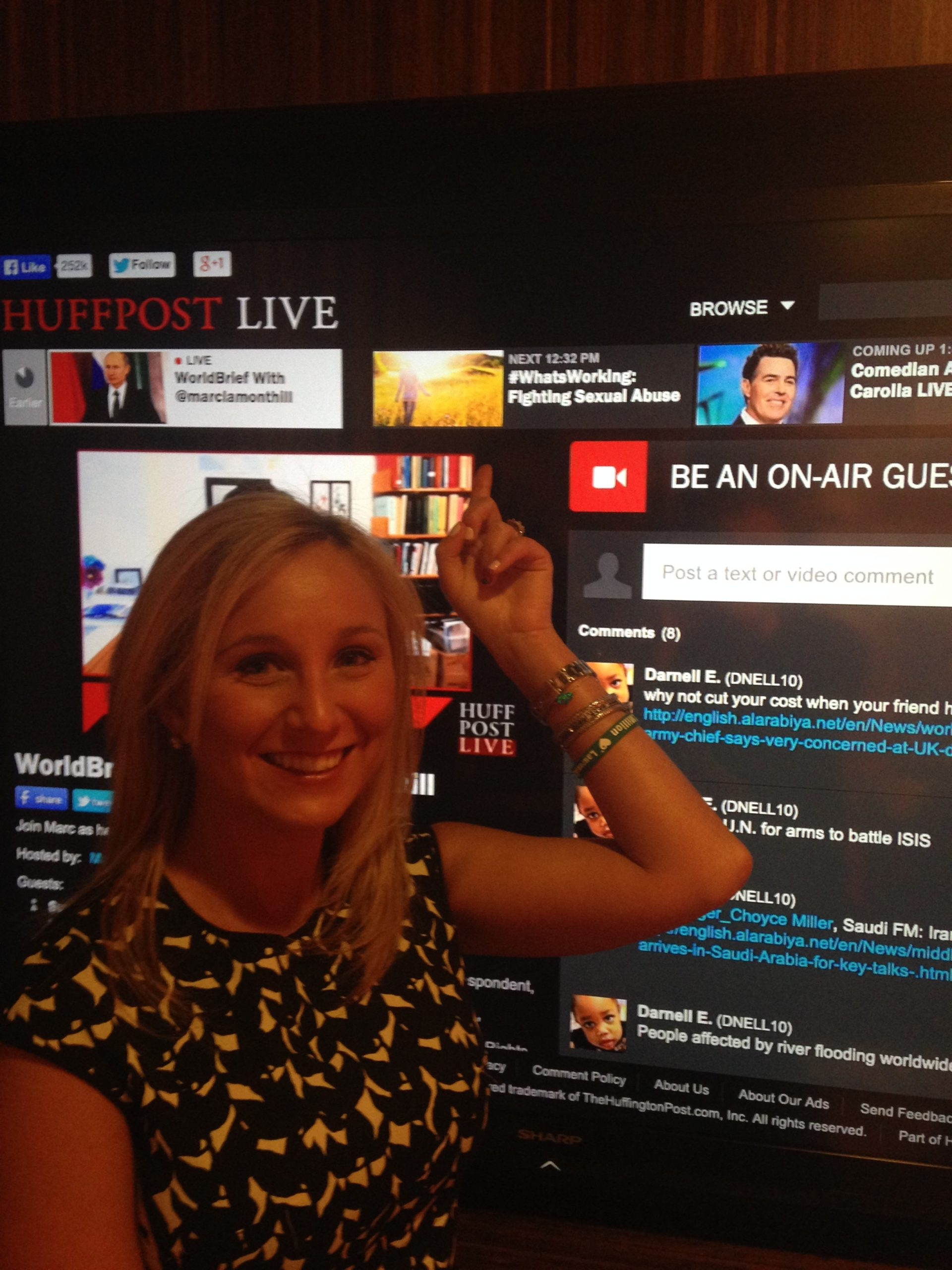 Lauren in the HuffPost Live Studio