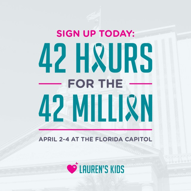 42 Hours for 42 Million: Sen. Lauren Book brings child sex abuse awareness to the Capitol