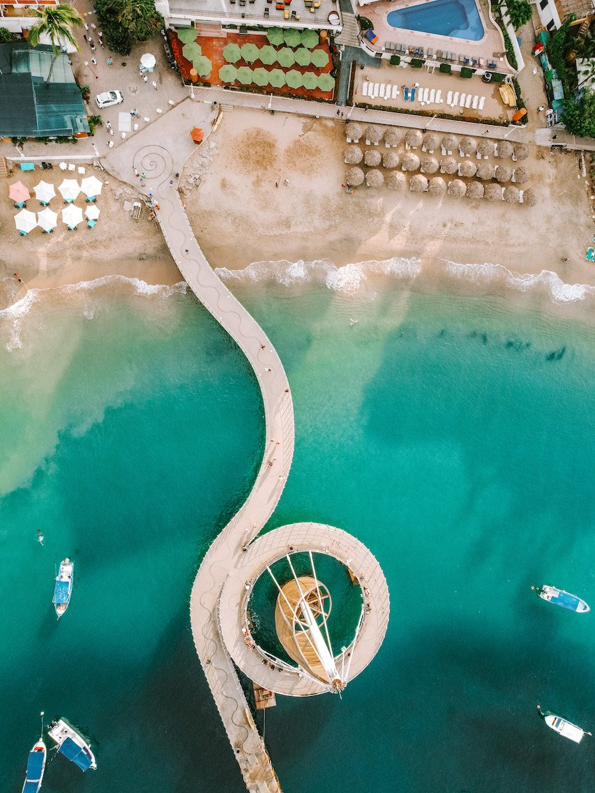 12 Hours in Puerto Vallarta - Bird's eye view of Los Muertos beach