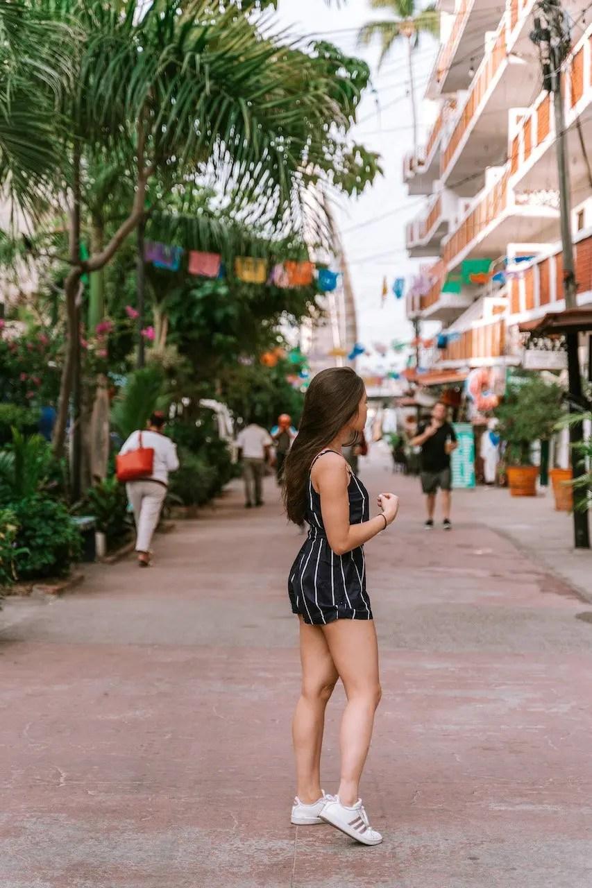 12 Hours in Puerto Vallarta - Colourful street in front of Los Muertos Pier