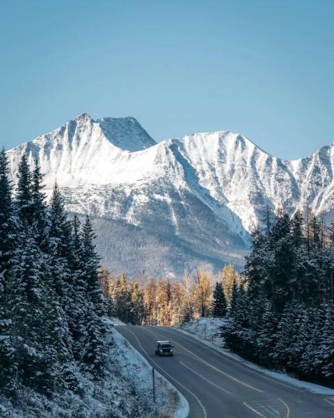 Icefields Parkways near Jasper in fall