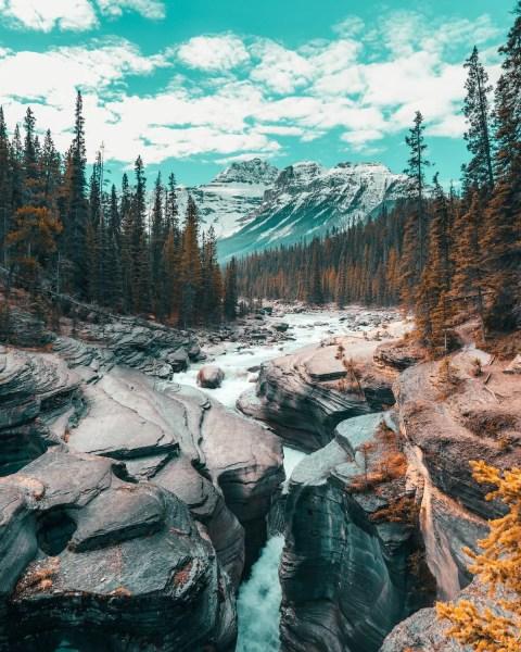 Mistaya Canyon, Jasper summer
