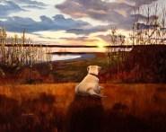 Amigo's Last Adventure; 16x20 oil on canvas; commission piece