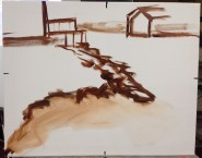My painting - sketched in