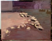 My painting - 'truer' colors added and some rocks and other shapes defined.