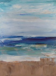 Beach Abstract; 18x24 oil on canvas; 1 of 3