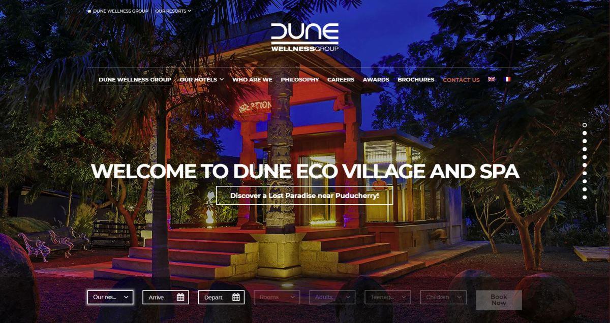 Dune Wellness Group Website, Homepage