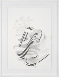 Michael Stubbs, 'Brush Head Drawing #1', 2012, pencil on watercolour paper, 60 x 42 cms