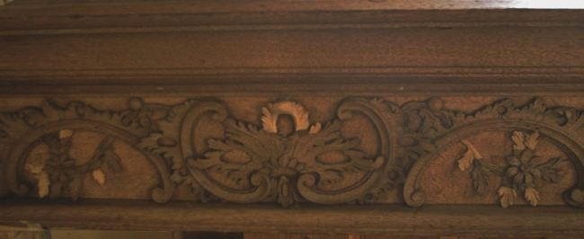 George England organ case restored by Laurent Robert Woodcarver, frieze 4