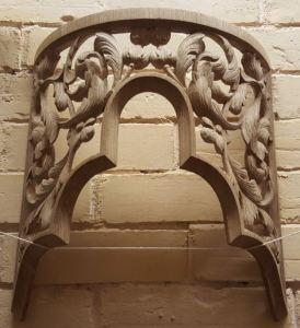 Westminster Abbey choir school pipe organ carvings by  Laurent Robert woodcarver, carved tower