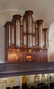 John Geib organ case with new carvings by Laurent Robert wood carver