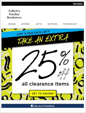 Clearance Email 2