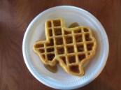 Une gaufre en forme de Texas
