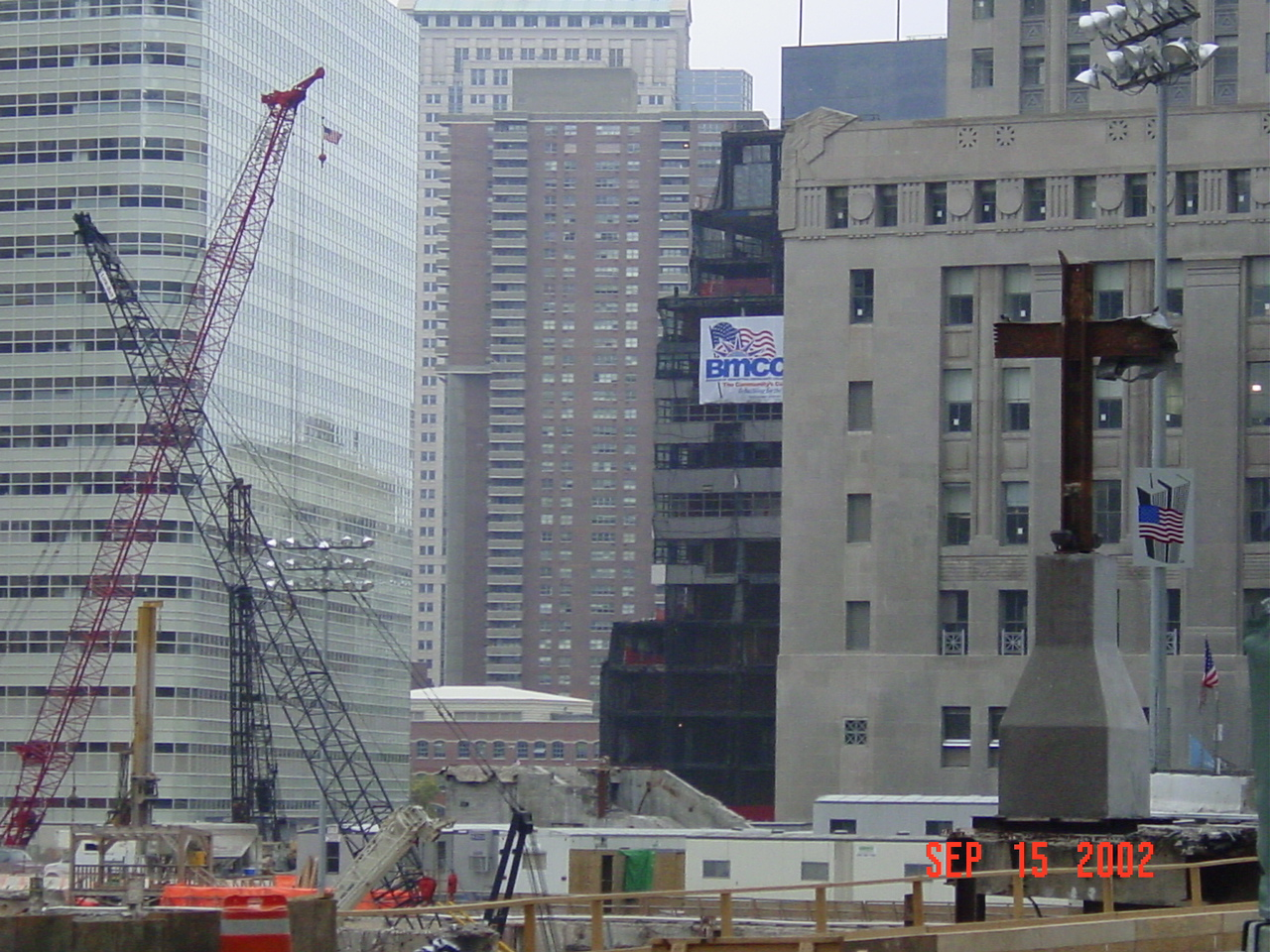 world trade center site 2001