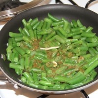 green beans & spaetzle without the spaetzle