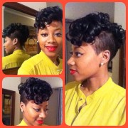 monica classy curly mohawk featuring