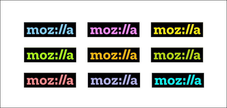 Mozilla Colored Logos