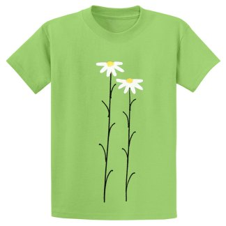 UniSex-SS-Tee-lime-daisies
