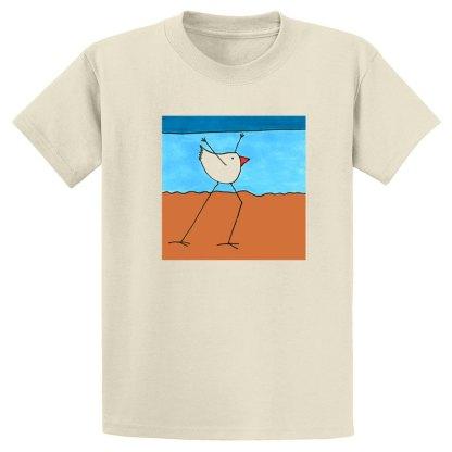 UniSex-SS-Tee-natural-beach-dancing-bird