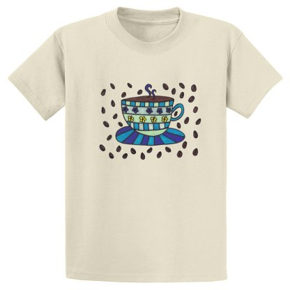 UniSex-SS-Tee-natural-coffee-bean-cup
