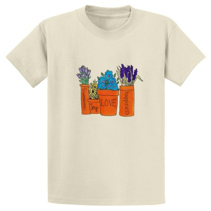UniSex-SS-Tee-natural-flowers-in-pots