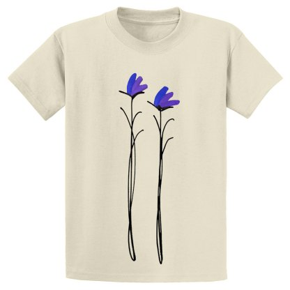 UniSex-SS-Tee-natural-purple-floral