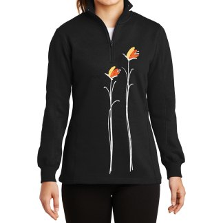 14-Zip-Sweatshirt-black-gold-floral