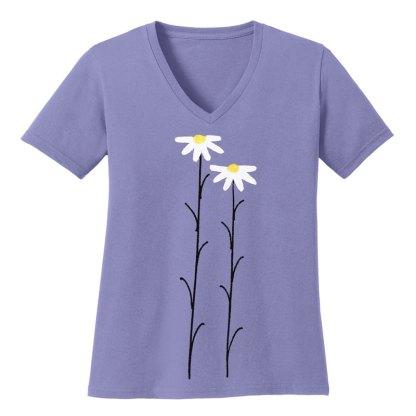 V-Neck-Tee-violet-daisiesW