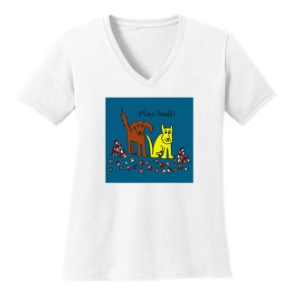 V-Neck-Tee-white-play-ball