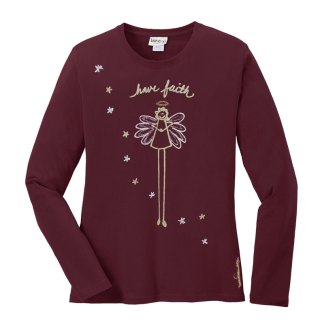 LS-Tee-burgundy-have-faith-angel