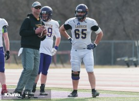 20170324 - Kha Vo - Laurier Football scrimmage vs Western_-48