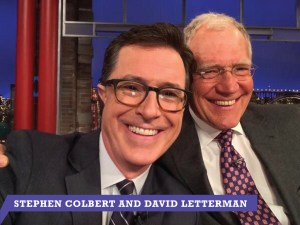 Stephen Colbert David Letterman