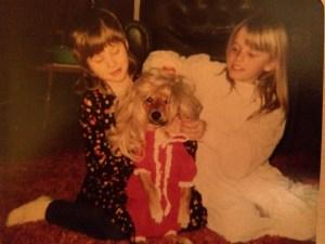 Me, my dog Sammy, and Tracy