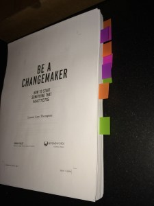 BE A CHANGEMAKER manuscript