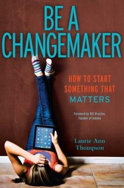 """#ChangemakerEd book """"Be a Changemaker"""" cover"""