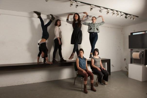 six dancers rehearse Economies of Effort 3