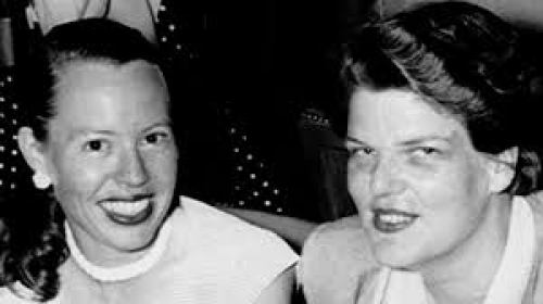 Phyllis and Del in the early years together