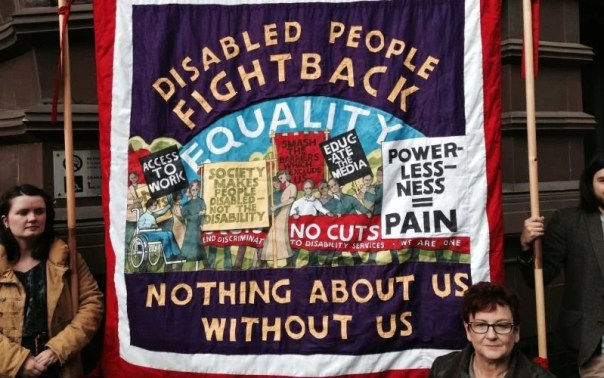 disabled people fight back banner
