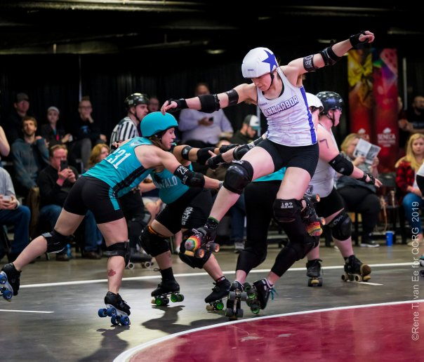 a fraught roller derby moment